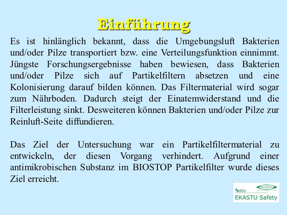 Wachstum von Bakterien und Pilzen und deren mögliche Auswirkungen auf Partikelfilter Department of Comparative Morphology and Biochemistry, University