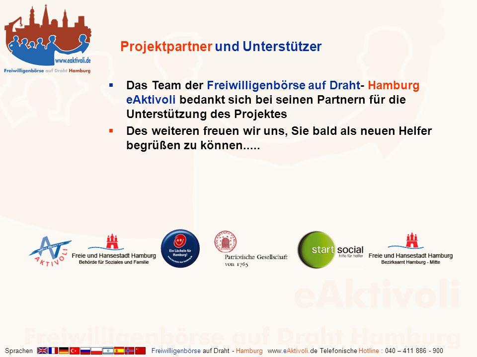 Sprachen Freiwilligenbörse auf Draht - Hamburg www.eAktivoli.de Telefonische Hotline : 040 – 411 886 - 900 Das Team der Freiwilligenbörse auf Draht- H