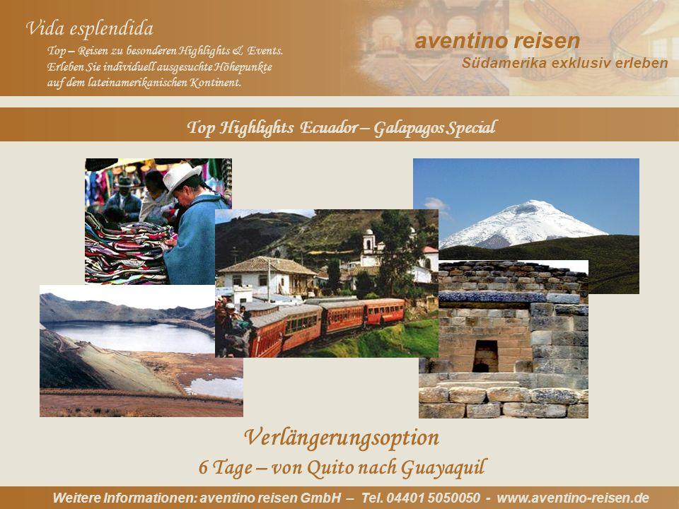 Argentinien: Oktoberfest Uruguay: Karneval Weitere Informationen: aventino reisen GmbH – Tel.