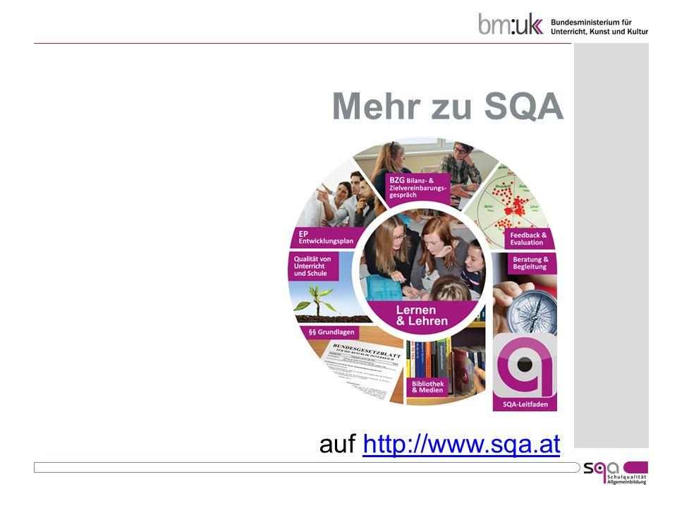 Mehr zu SQA auf http://www.sqa.athttp://www.sqa.at