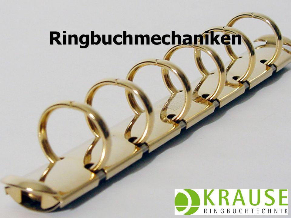 Juni 2009KRAUSE AG Bestimmung Bestellnummer Ergänzungen Messmethode Wahl der Mechanik Bohrung der Einlagen Transport fertiger Ringbücher