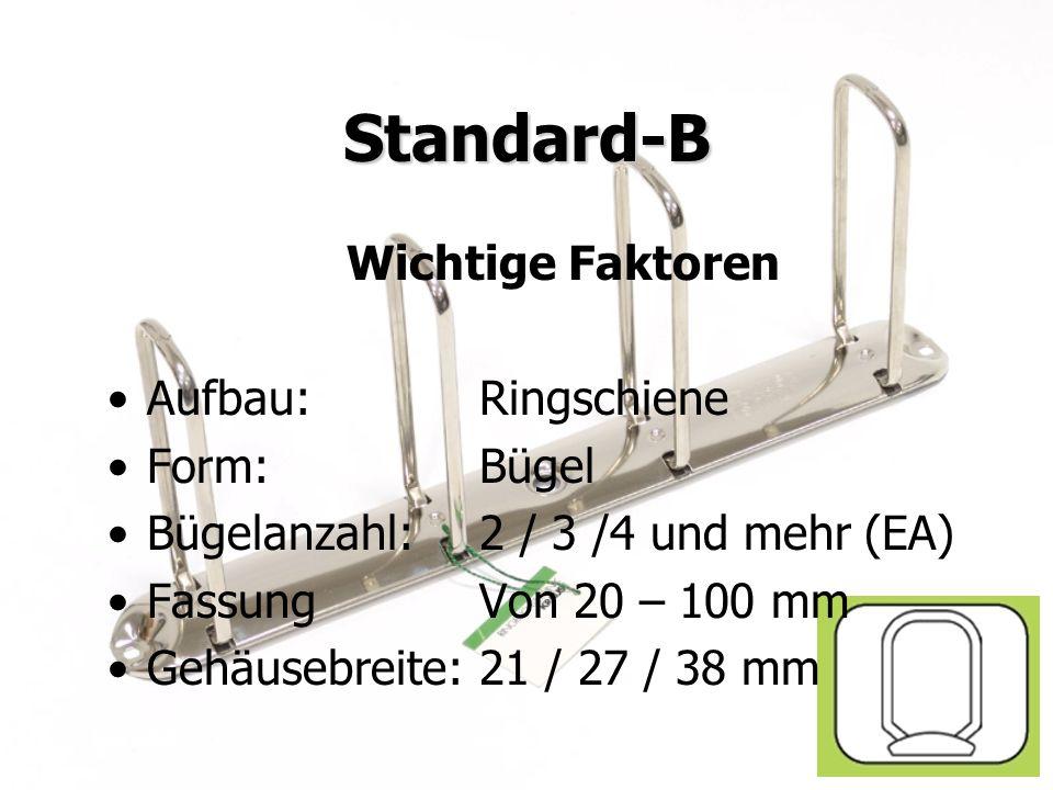 Juni 2009KRAUSE AG Standard-B Wichtige Faktoren Aufbau:Ringschiene Form:Bügel Bügelanzahl:2 / 3 /4 und mehr (EA) FassungVon 20 – 100 mm Gehäusebreite: