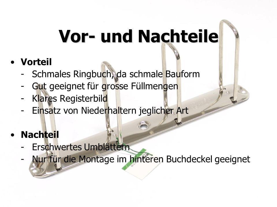 Juni 2009KRAUSE AG Vor- und Nachteile Vorteil -Schmales Ringbuch, da schmale Bauform -Gut geeignet für grosse Füllmengen -Klares Registerbild -Einsatz