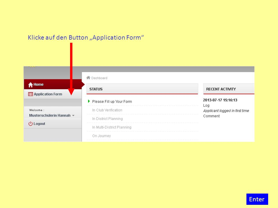 Bevor du mit dem Eintrag deiner Daten in die einzelnen Steps beginnen kannst, musst du zunächst im Step 1 das Blatt mit den General Information and Instructions herunterladen.