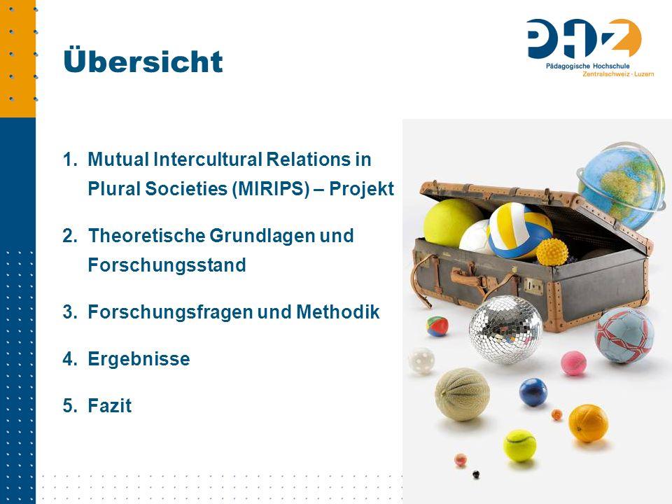 1.Mutual Intercultural Relations in Plural Societies (MIRIPS) – Projekt 2.Theoretische Grundlagen und Forschungsstand 3.Forschungsfragen und Methodik
