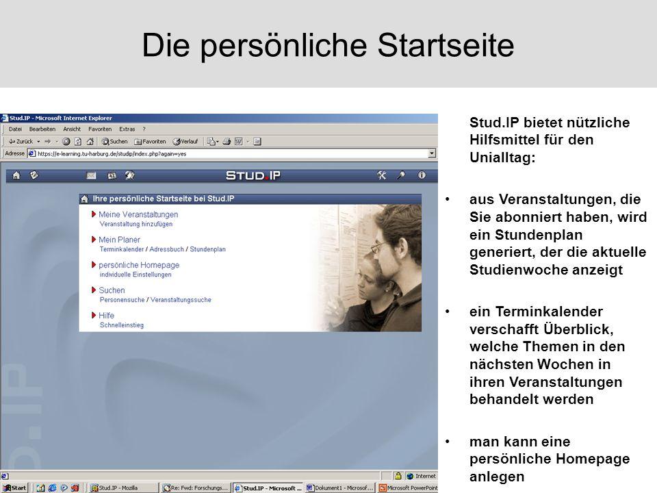 Vorlesungsmaterialien Unter Dateien finden Sie die Vorlesungs- materialien.
