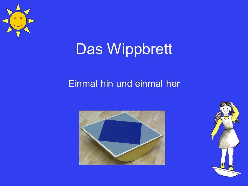 Inhaltsverzeichnis Was ist das Wippbrett.Welche Funktionen werden trainiert.