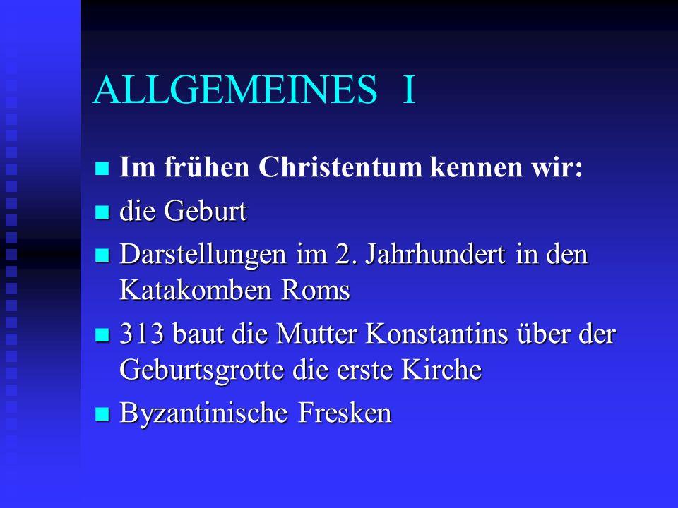 ALLGEMEINES II 1223 Franz von Assisi führt mit Personen und Tieren ein erstes Krippenspiel auf.