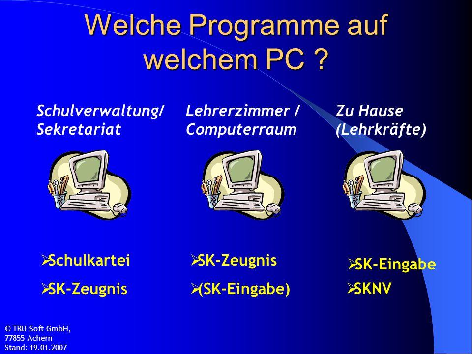 Welche Programme auf welchem PC .