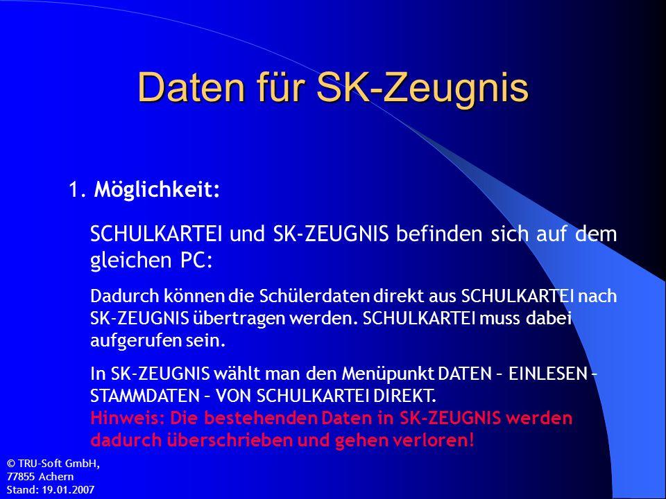 Daten für SK-Zeugnis 1.