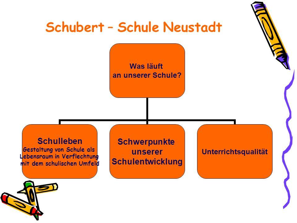 Schubert – Schule Neustadt Was läuft an unserer Schule.
