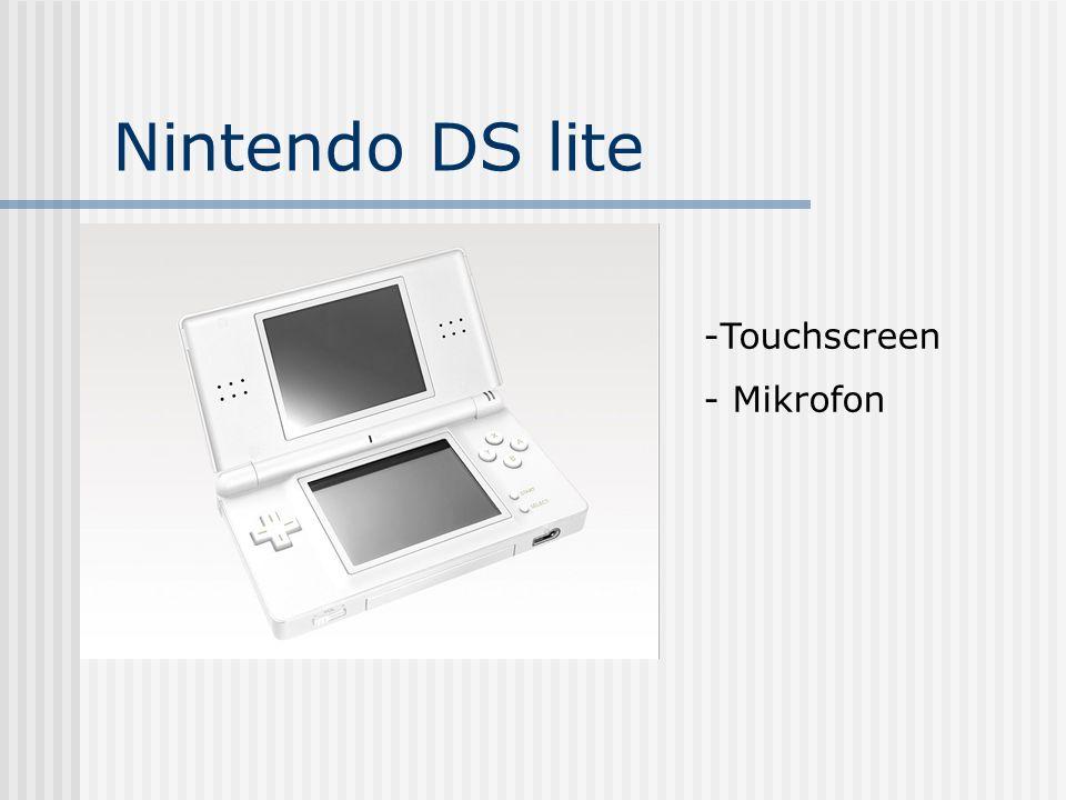 Nintendo DS lite -Touchscreen - Mikrofon