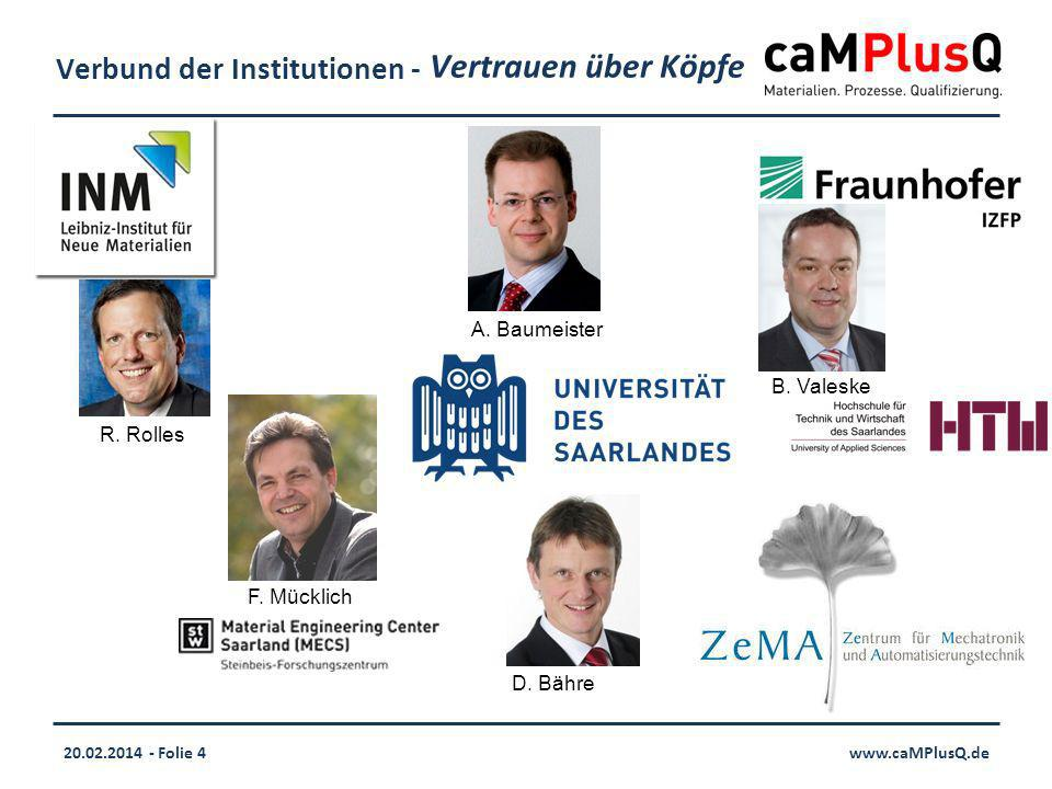 20.02.2014 - Folie 4www.caMPlusQ.de Verbund der Institutionen - F.