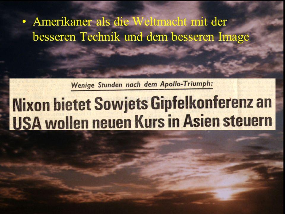 Reaktionen in der Presse Bezogen auf die Russen gab es wenig bis gar keine Informationen in der deutschen Presse Bezogen auf die Amerikaner: –Neutrale