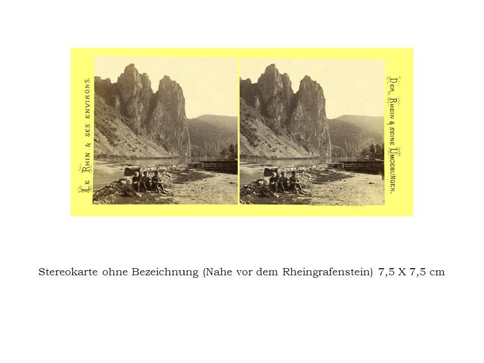 Stereokarte ohne Bezeichnung (Nahe vor dem Rheingrafenstein) 7,5 X 7,5 cm