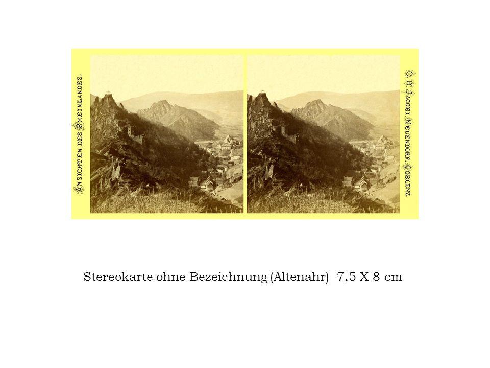 Stereokarte ohne Bezeichnung (Altenahr) 7,5 X 8 cm