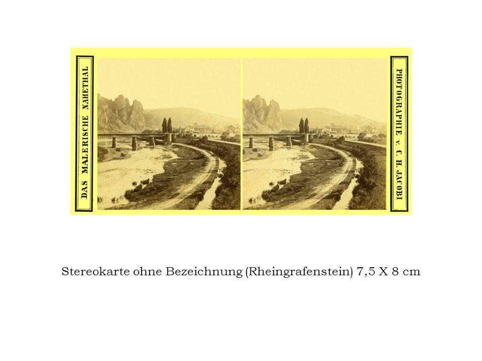 Stereokarte ohne Bezeichnung (Rheingrafenstein) 7,5 X 8 cm