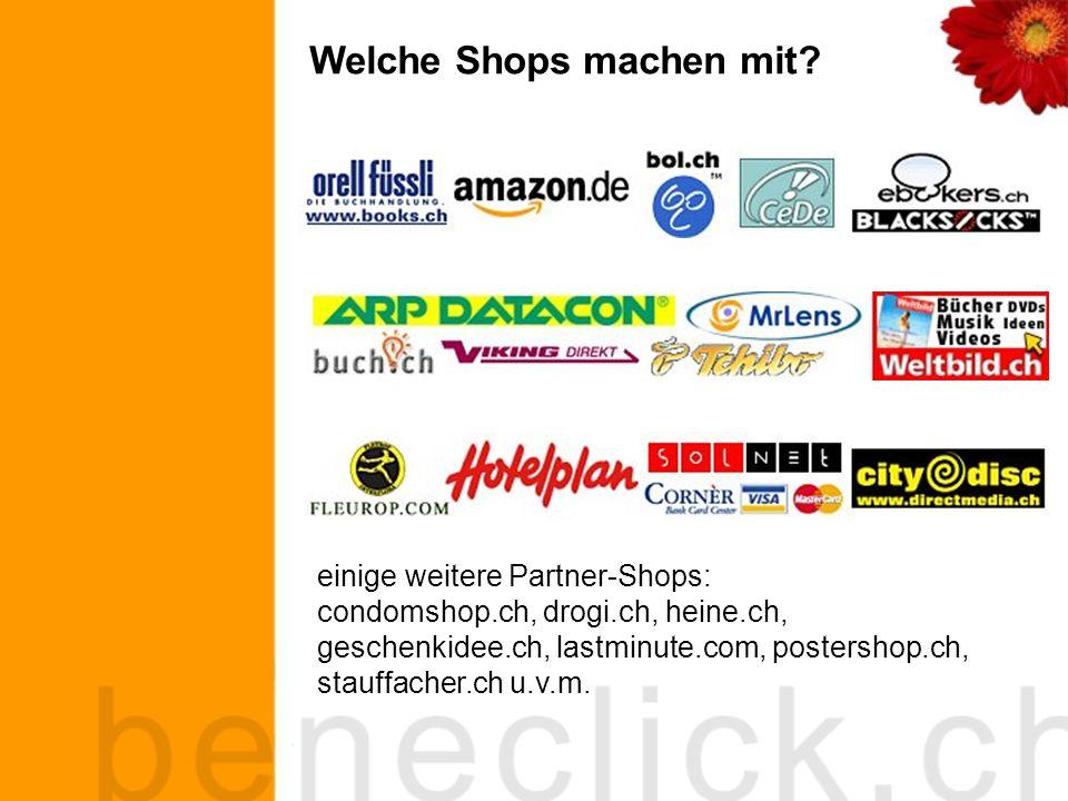 Was kann man auf beneclick.ch kaufen.