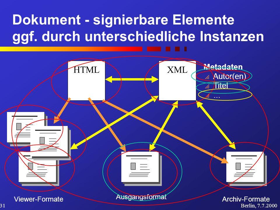 Dokument - signierbare Elemente ggf.