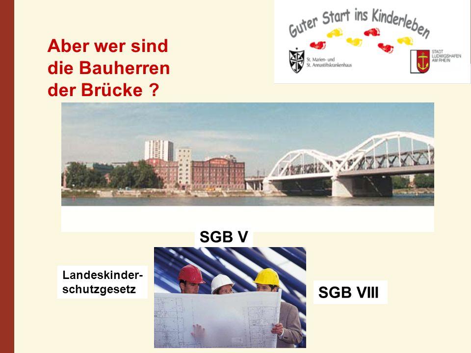 SGB V SGB VIII Landeskinder- schutzgesetz Aber wer sind die Bauherren der Brücke ?