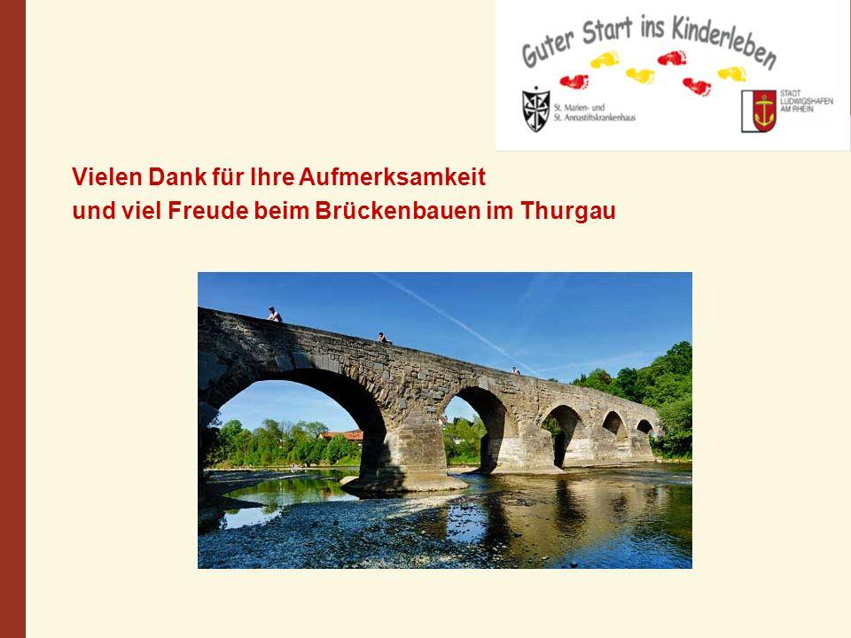 Vielen Dank für Ihre Aufmerksamkeit und viel Freude beim Brückenbauen im Thurgau