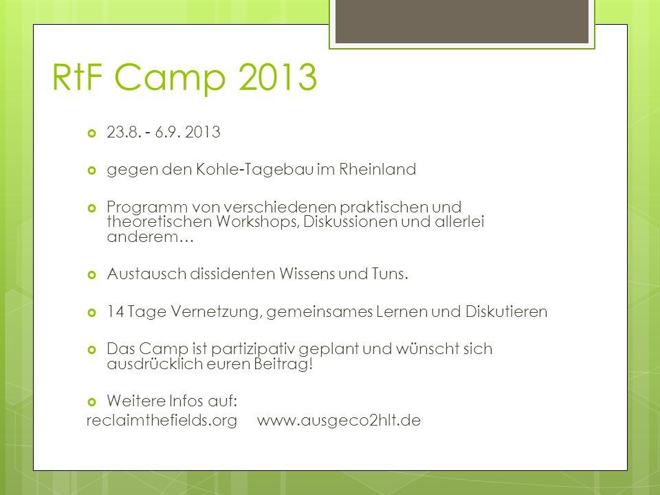 RtF Camp 2013 23.8. - 6.9.