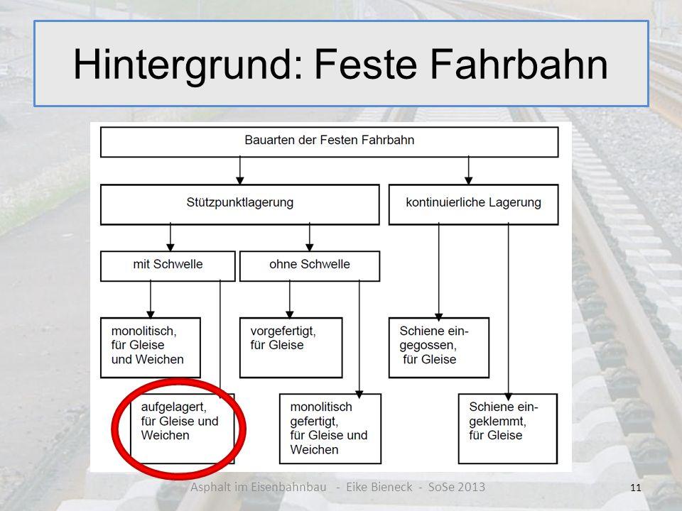Hintergrund: Feste Fahrbahn 11 Asphalt im Eisenbahnbau - Eike Bieneck - SoSe 2013