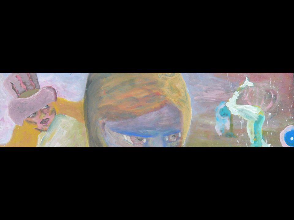 ÜBERNATÜRLICH IRDISCH Tempera auf Presspappe 46x65cm 2001