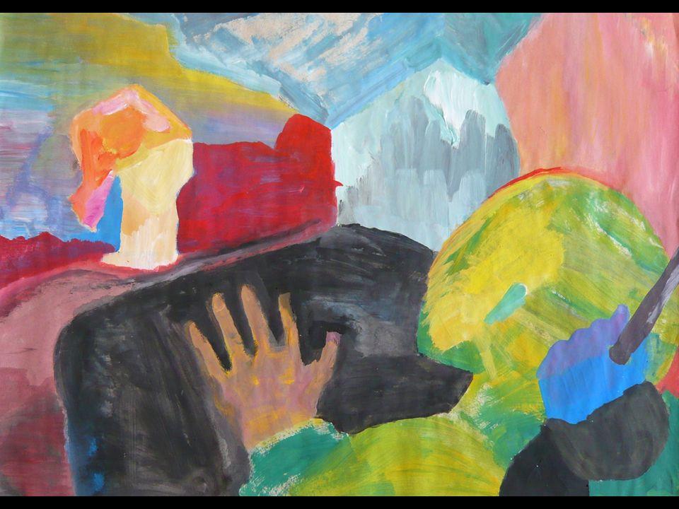 DIE RUHENDE SCHÖPFERIN Wasserfarbe auf Pappe 23x30cm 2003