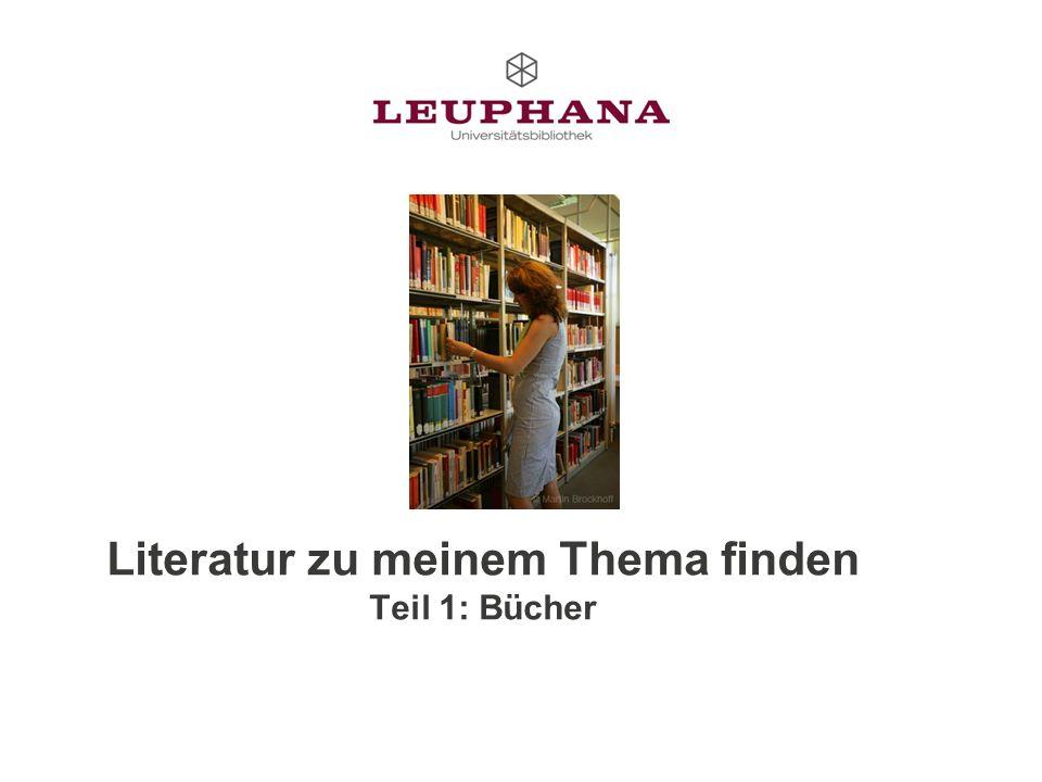 Literatur zu meinem Thema finden Teil 1: Bücher
