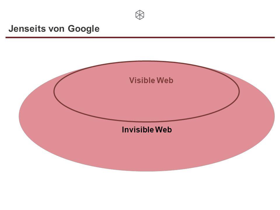 Invisible Web Jenseits von Google Visible Web