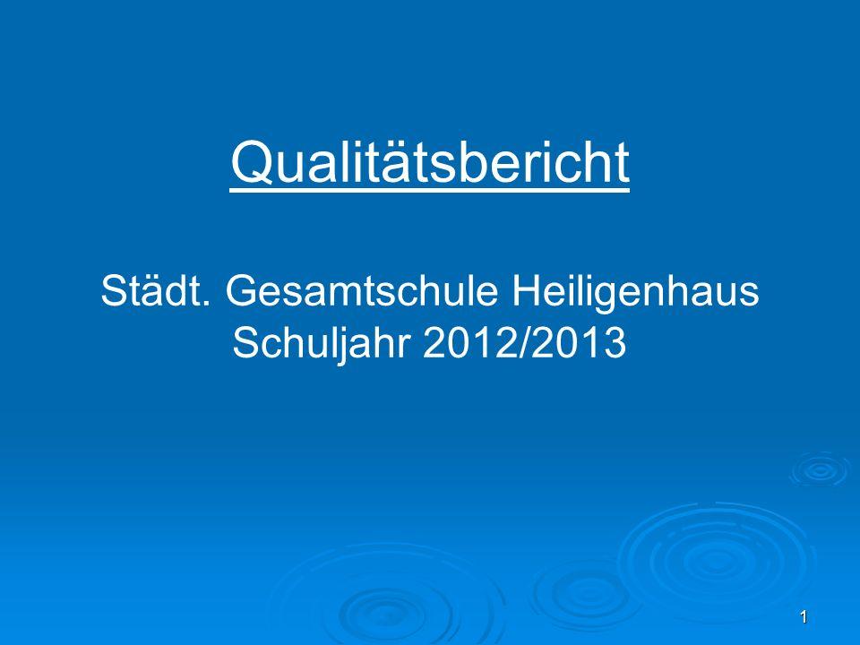 1 Qualitätsbericht Städt. Gesamtschule Heiligenhaus Schuljahr 2012/2013