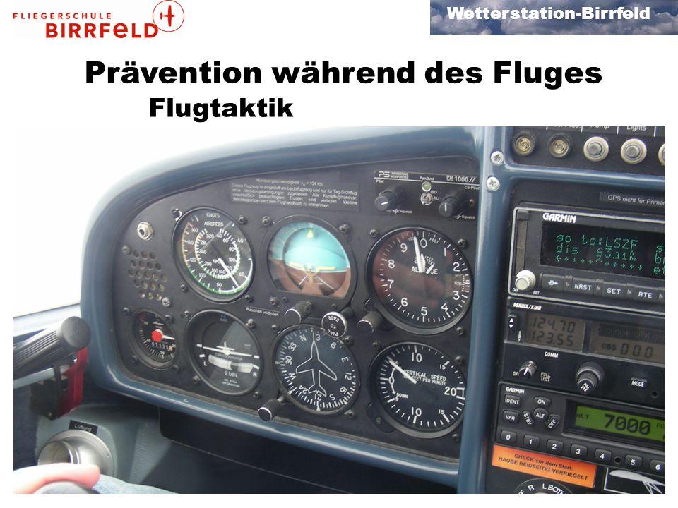 Wetterstation-Birrfeld Prävention während des Fluges Flugtaktik