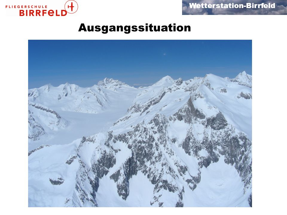 Wetterstation-Birrfeld Flugvorbereitung Check vor Alpenflug