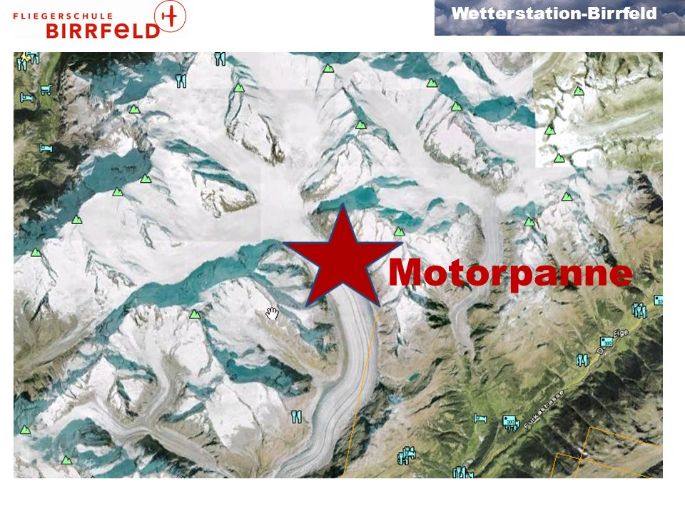 Wetterstation-Birrfeld Flugvorbereitung Check vor Alpenflug Routenplanung ok Alternativroute .