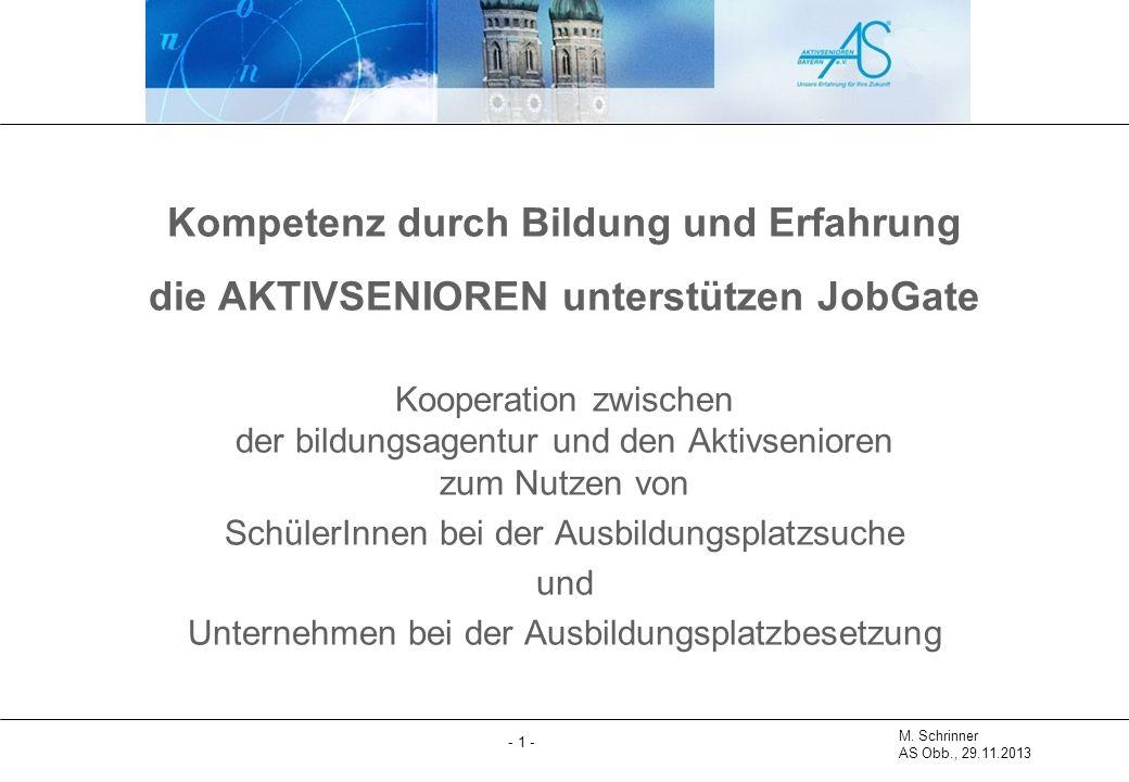 M.Schrinner AS Obb., 29.11.2013 - 2 - Reinhold Heiß, Michael Schrinner AS Obb., Aug.