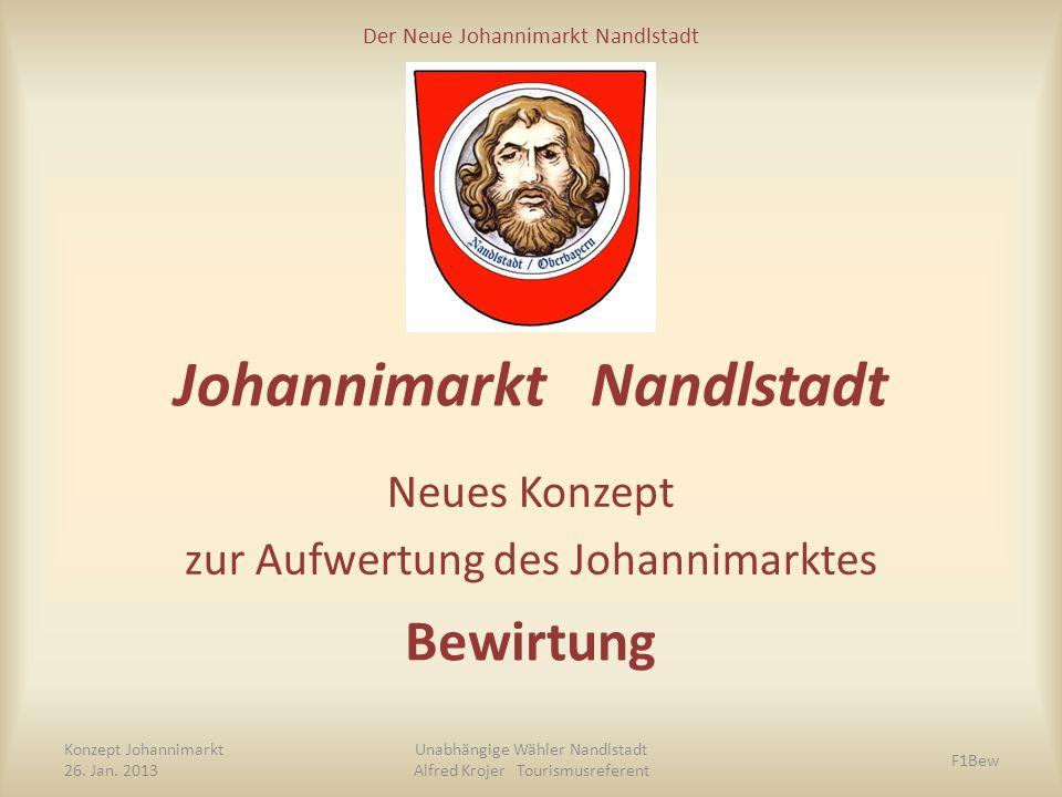 Der Neue Johannimarkt Nandlstadt Johannimarkt Nandlstadt Neues Konzept zur Aufwertung des Johannimarktes Konzept Johannimarkt 26. Jan. 2013 Unabhängig