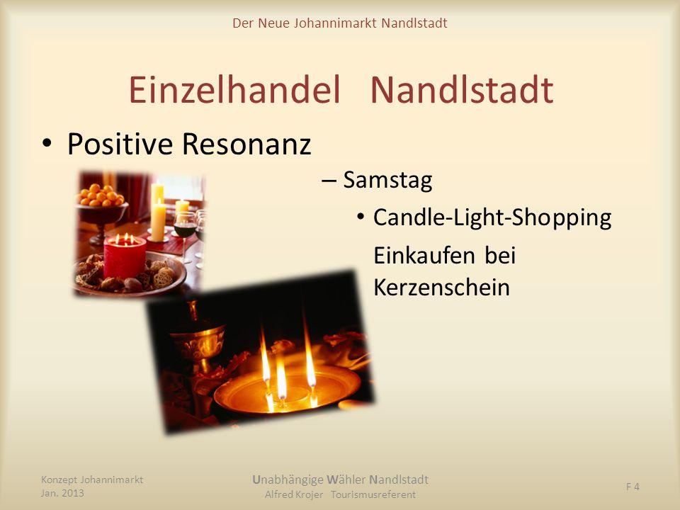 Der Neue Johannimarkt Nandlstadt Einzelhandel Nandlstadt – Samstag Candle-Light-Shopping Einkaufen bei Kerzenschein Konzept Johannimarkt Jan. 2013 Una