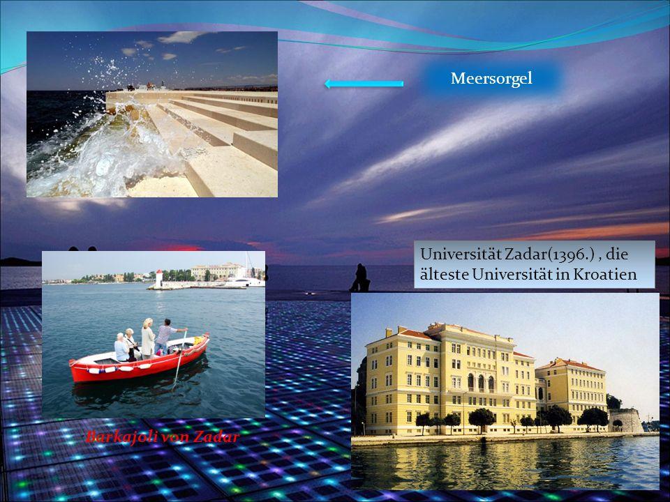 Universität Zadar(1396.), die älteste Universität in Kroatien Meersorgel Barkajoli von Zadar