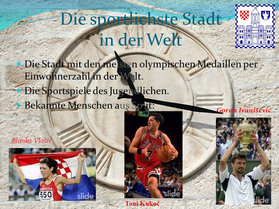 Die sportlichste Stadt in der Welt Die Stadt mit den meisten olympischen Medaillen per Einwohnerzahl in der Welt. Die Sportspiele des Jugendlichen. Be