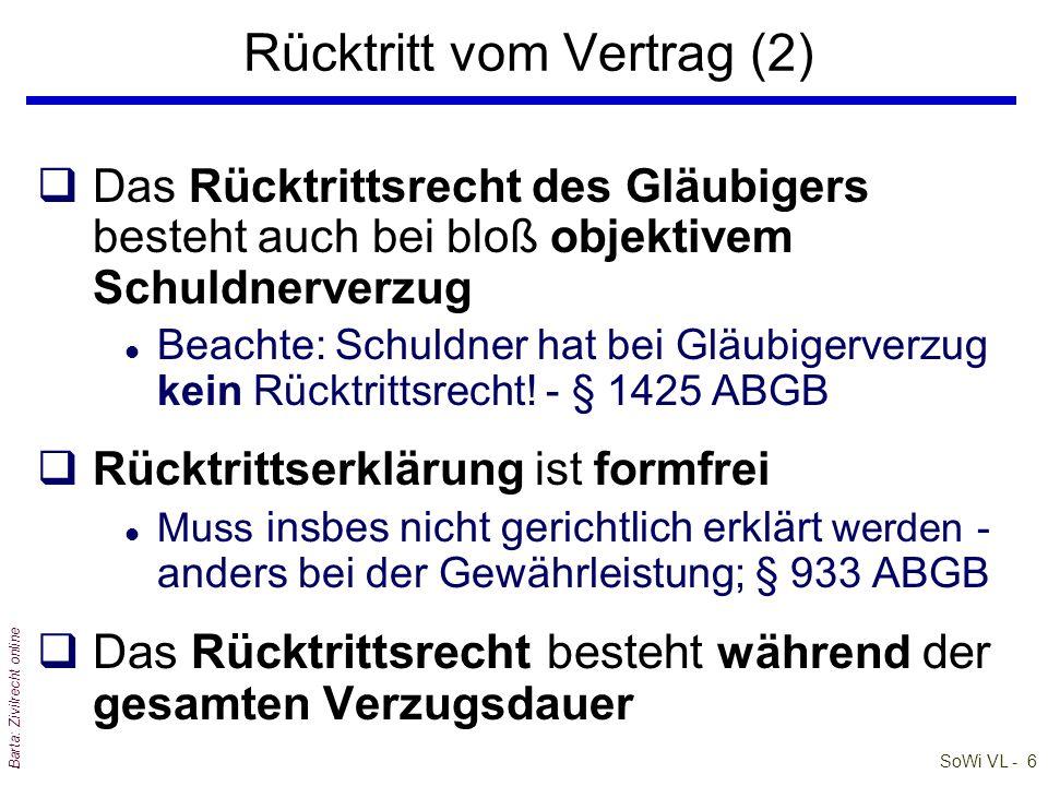 SoWi VL - 7 Barta: Zivilrecht online qRücktrittserklärung und Nachfristsetzung müssen miteinander verbunden sein l Häufiger Fehler.