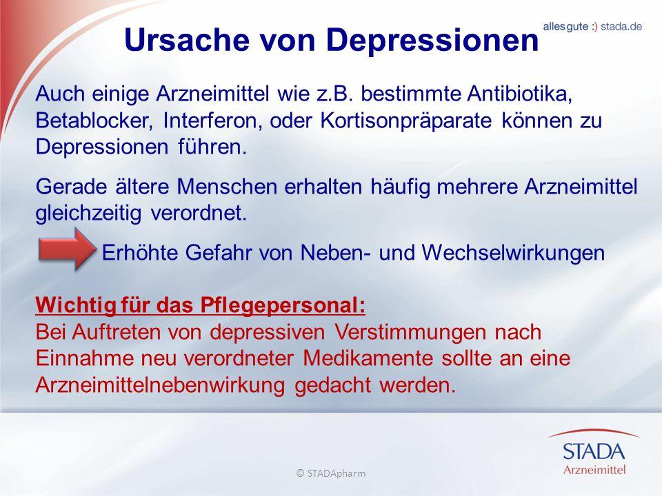 Ursache von Depressionen Auch einige Arzneimittel wie z.B.