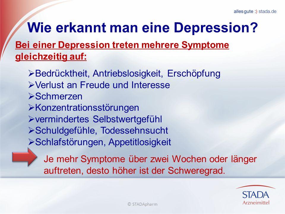 Wie erkannt man eine Depression.