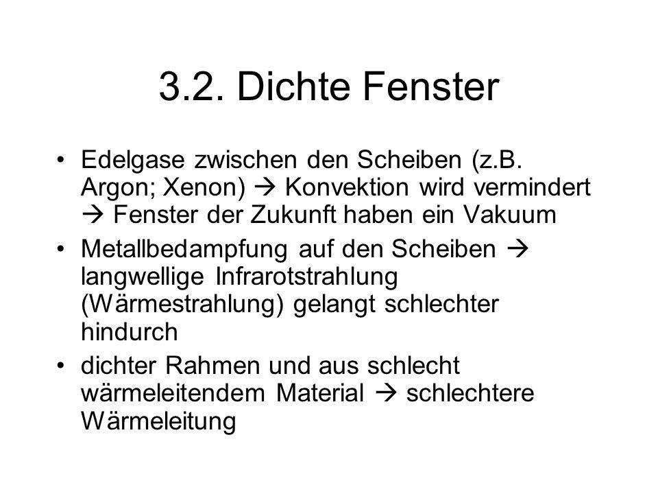3.2.Dichte Fenster Edelgase zwischen den Scheiben (z.B.