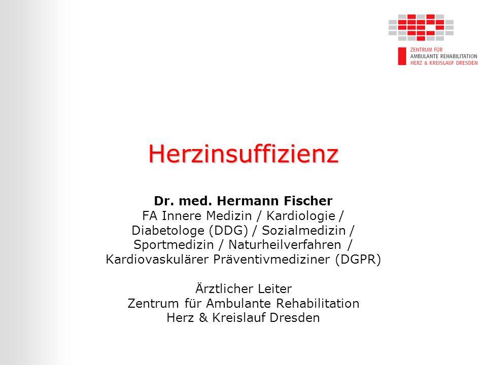 Herzinsuffizienz Dr. med. Hermann Fischer FA Innere Medizin / Kardiologie / Diabetologe (DDG) / Sozialmedizin / Sportmedizin / Naturheilverfahren / Ka