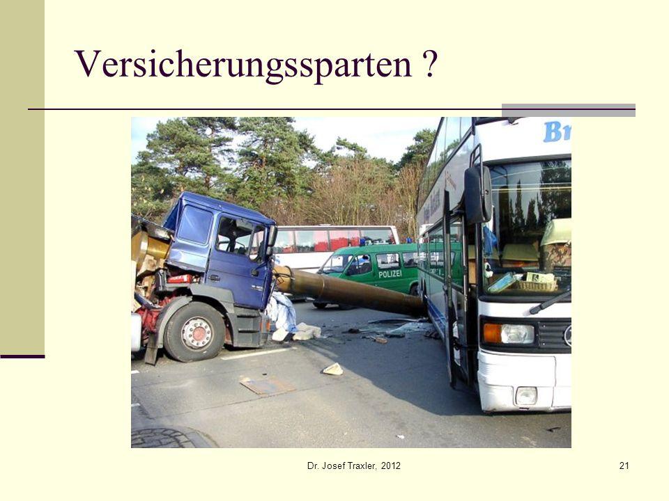 Dr. Josef Traxler, 201221 Versicherungssparten ?