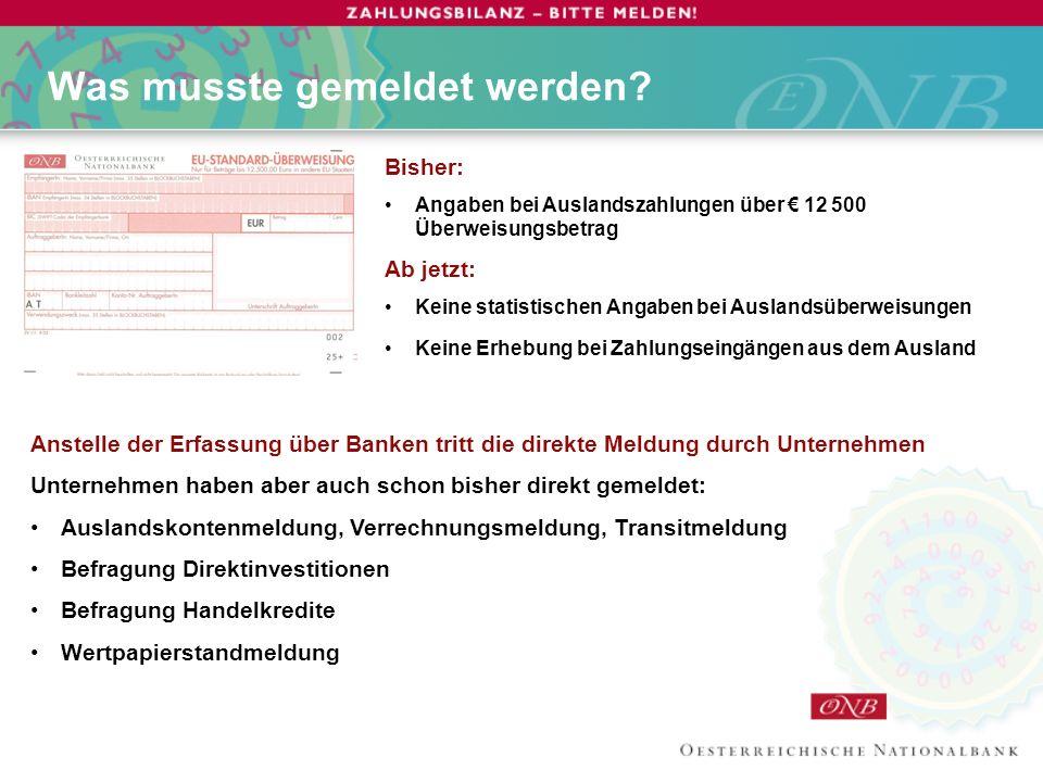 Informationen Website www.zahlungsbilanz.oenb.atwww.zahlungsbilanz.oenb.at Telefon-Hotline OeNB: 01 40420 4444