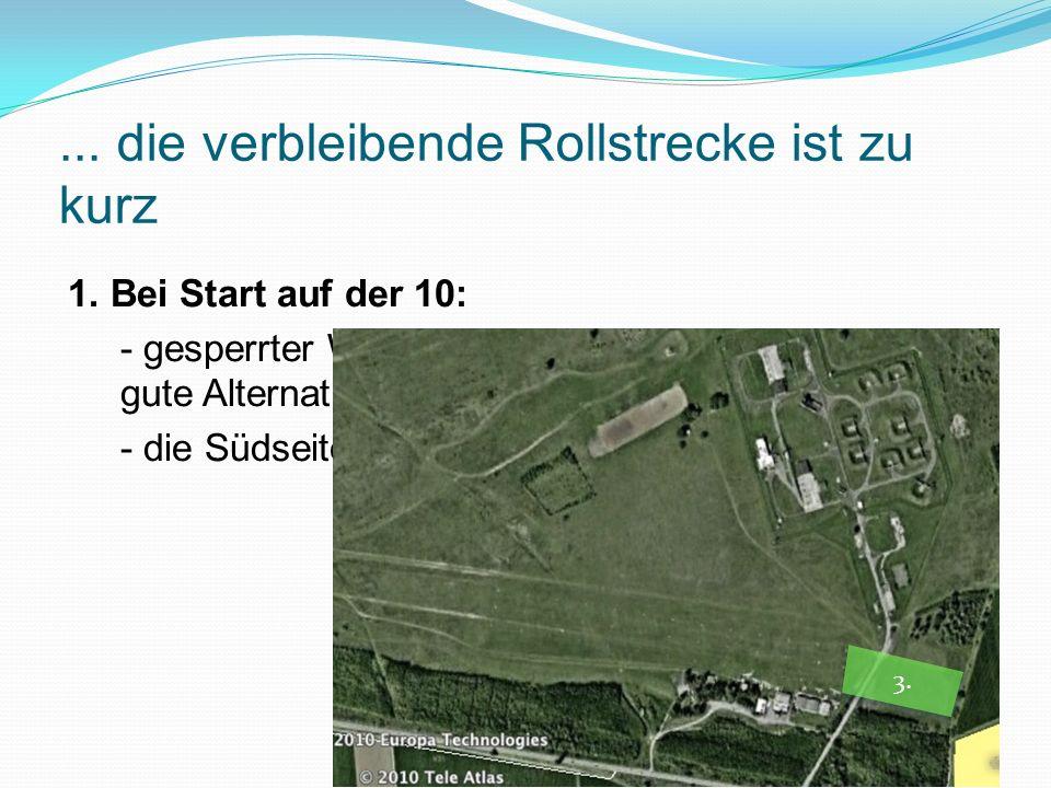 Alternativen bei Seilriß beim Start vom Ebenberg: Landung auf dem Flugplatz - Umkehrkurve Generell: Eine Umkehrkurve unter 80 – 100 m ist ein hohes Risiko.