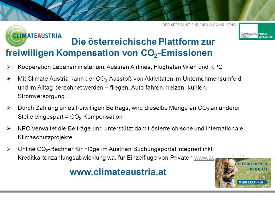 DER SPEZIALIST FÜR PUBLIC CONSULTING 26 Kommunalkredit Public Consulting GmbH www.publicconsulting.at DI Alexandra Amerstorfer Türkenstraße 9, 1092 Wien Tel+43 1 31631- 240 Fax+43 1 31631-104
