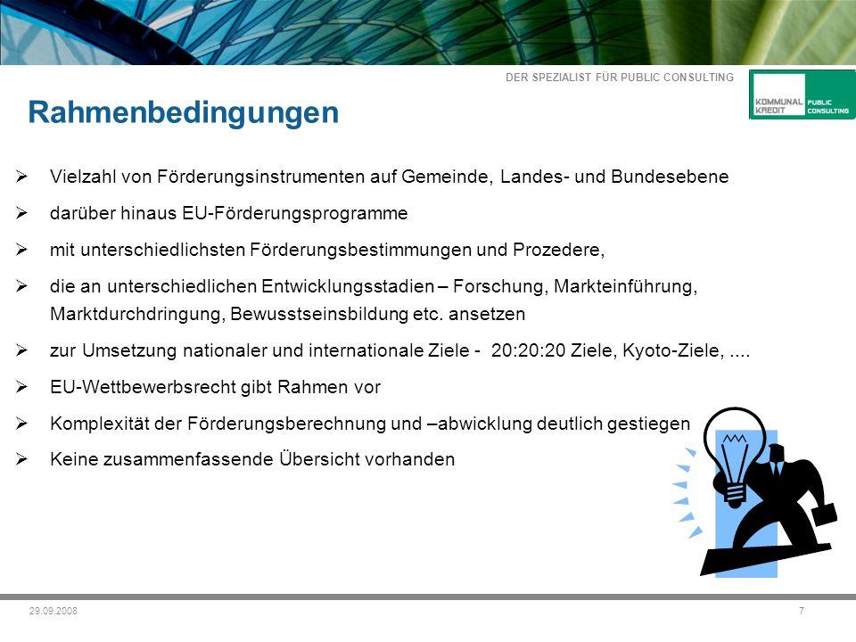 DER SPEZIALIST FÜR PUBLIC CONSULTING 829.09.2008 Bsp.